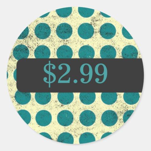 Polka Dot Price Tag Stickers