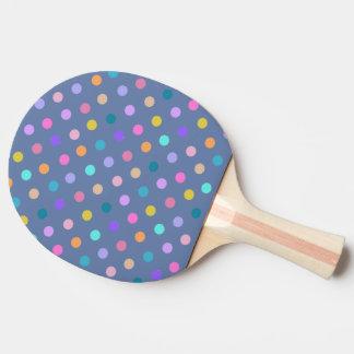 Polka dot print blue ping pong paddle