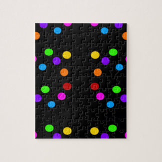POLKA DOT PRINT MULTICOLORED JIGSAW PUZZLE