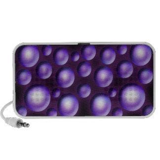 Polka dot purple circles mini speaker