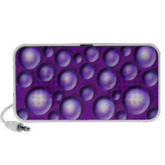 Polka dot purple circles iPod speaker