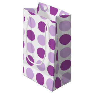 Polka Dot Purples Small Gift Bag