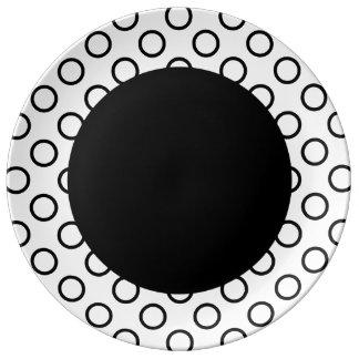 Polka Dot Rings - Black Porcelain Plate