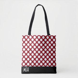 Polka Dot RM Monogram Tote Bag