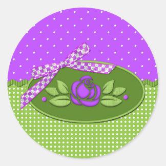 Polka Dot Roses PURPLE Sticker