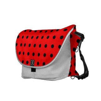 polka-dot,  rouge à pois noir messenger bags