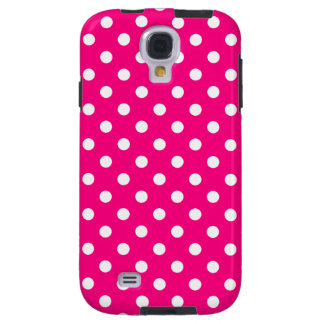 Polka Dot Samsung Galaxy S4 Case in Hot Pink