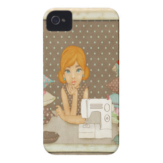 Polka Dot Seamstress iPhone 4 Covers