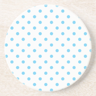Polka Dot Series---Blue & White coaster