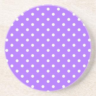 Polka Dot Series---Purple & White coaster