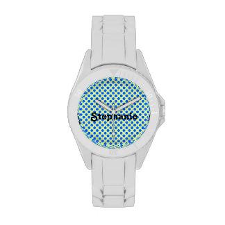 polka dot silicon band watch