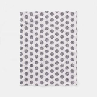 Polka dot silver decorative fleece Blanket