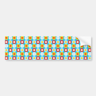 Polka Dot Squares Bumper Stickers