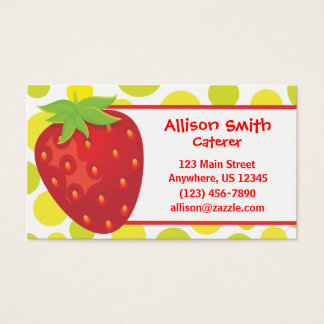 Polka Dot Strawberry Business Card Calling Card
