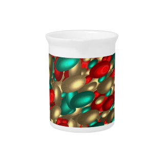 polka dot texture abstract fractal art pitcher