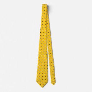 Polka Dot Ties Gold Yellow Purple Colors Design