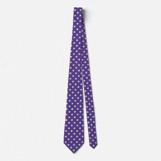 Polka Dot Ties Purple Gold Colors Design Pattern