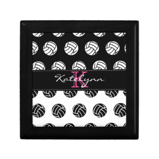 Polka Dot Volleyball Custom Monogram Keepsake Gift Box