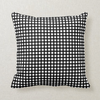 Polka Dot White & Black Throw Pillow