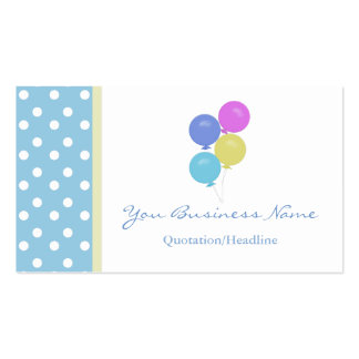 Polka Dot  with  Balloons Business Card