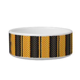 Polka Dot Yellow and Black - DIY Name Bowl