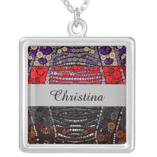 Polka-dot Zebra Silver Plated Necklace