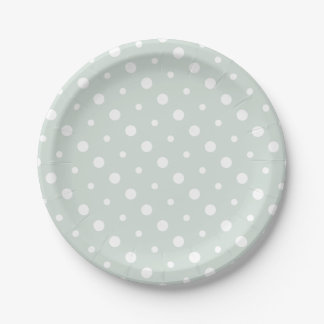Polka Dots 7 Inch Paper Plate