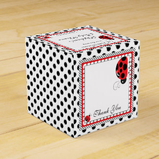 Polka Dots and Cute Ladybugs Party  Favor Box Party Favour Boxes