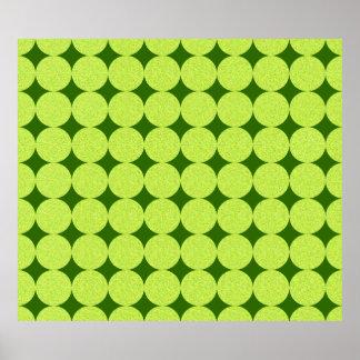 Polka Dots and Diamonds-Optical Illusion Posters