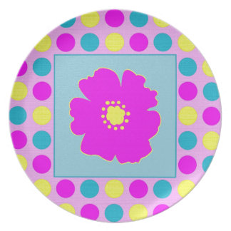 Polka Dots and Flower in PBY Plates