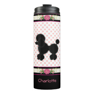 Polka Dots and Poodle Pretty Thermal Tumbler