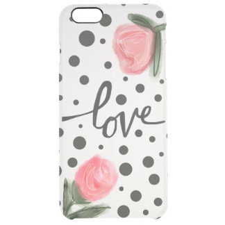 Polka Dots and Roses Clear iPhone 6 Plus Case