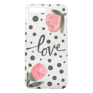 Polka Dots and Roses iPhone 7 Plus Case