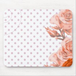 Polka Dots and Roses Mouse Pad
