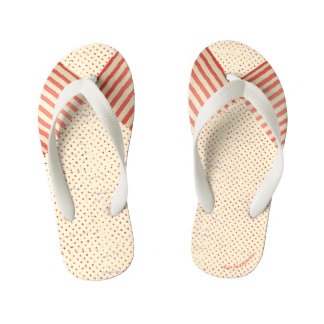 Polka Dots and Stripes Faded Vintage Look Kid's Thongs