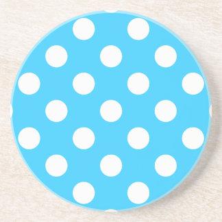 Polka Dots Aqua Coaster