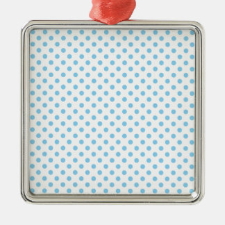 Polka Dots - Baby Blue on White Christmas Ornament