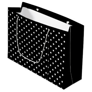 Polka Dots Black and White Gift Bag