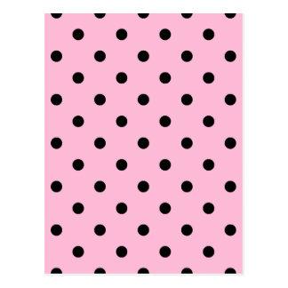 Polka Dots - Black on Cotton Candy Postcard