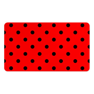 Polka Dots - Black on Red Business Card