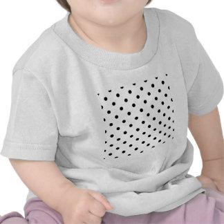 Polka Dots - Black on White Tee Shirts