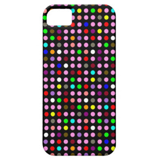 Polka Dots Black with Random Rainbow iPhone 5 Cases