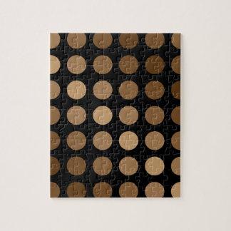 polka dots brown on black jigsaw puzzle