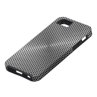 Polka Dots Brushed Metal Plate iPhone 5 Covers