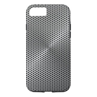 Polka Dots Brushed Metal Plate iPhone 7 Case