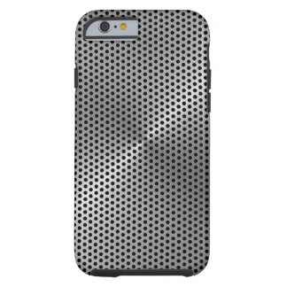 Polka Dots Brushed Metal Plate Tough iPhone 6 Case
