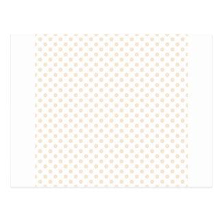 Polka Dots - Champagne on White Postcard