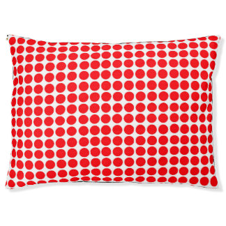 Polka Dots Circle Polkadot Pattern Print Red Print Pet Bed