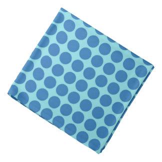 Polka Dots Circle Print Blue Bandana