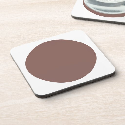 Polka Dots Cognac Beverage Coaster